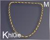 K gold chain M