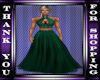 green fansy formal dress