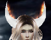 White Horns on Fire