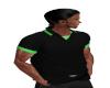 Black Green Polo M