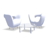Blanco chairs w poses