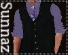 (S1)Black Purple Vest