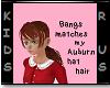 V~Auburn Bangs