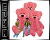 Bear pink sofa friends