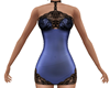 Blue Black Lace Dress