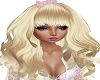Pink Bow Blond Hair