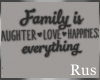 Rus: Family Wall Quote