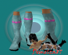 Summer Denim Boots - Aqu