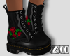 [zuv] rose-black boot