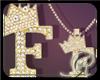 R  F gold Dm necklace