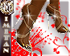 (MI) L´amour gold shoe