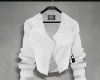 Cropped blazer, white.