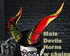 Male Devils HornswChains