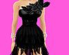 *T* Chiffon Gown Black
