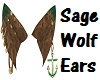 Sage Wolf Ears [request]