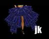 Goth Baroque Blue Skirt