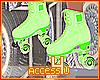 ! Green Roller Skates