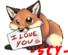 SCY~I LOVE YOU BROWN FOX