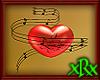 3D Music Heart Red Love