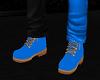Neon Blue Timberlands