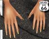 SD Gold Snowflake Nail