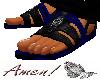 Deep Blue Leather Sandal