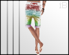|Rainbow Denim Shorts|