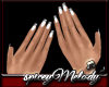 White Nails Silver Tip