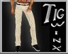 Khaki Belted Pants