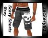 Scary Shorts Grey New