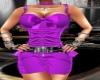 hot in purple dress