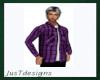 JT LS Plaid Purple