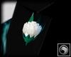 [8Q] Lapel Crystal Rose