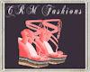 (CRM) Pink Wedges