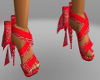 bow red bandanna shoes