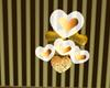 Gold&White Heart Balloon