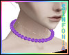 Purple Violet Necklace