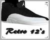 F   Black Retro 12's
