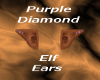 Purple diamond elf ears