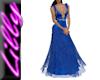 Blue gold lace dress