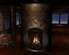 Two Sided Rock Fireplace