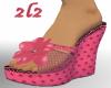 2L2 Pink Polkadot Wedges