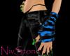 Blue Neon rave Gloves