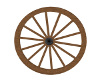 Ma's Wagon wheel decorat