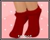 T| Kids Red Kitty Socks