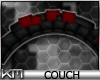 +KM+ Round Couch Blk/Red