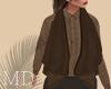 Brown Linen Vest