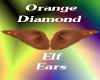 Orange Diamond Elf Ears