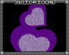 Stacked Purple Hearts
