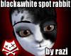 B&W Spot Rabbit (F)